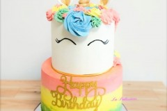 A colourful birthday cake in Toronto