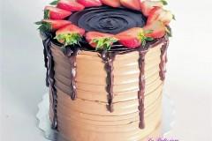 A chocolate flavoured strawberry Birthday Cake in Toronto
