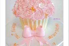 A beautiful pink Birthday Cake in Toronto