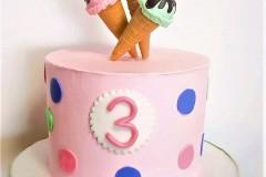 A pink ice-creak Birthday Cake In Toronto