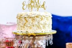 Wedding cake with gold writing