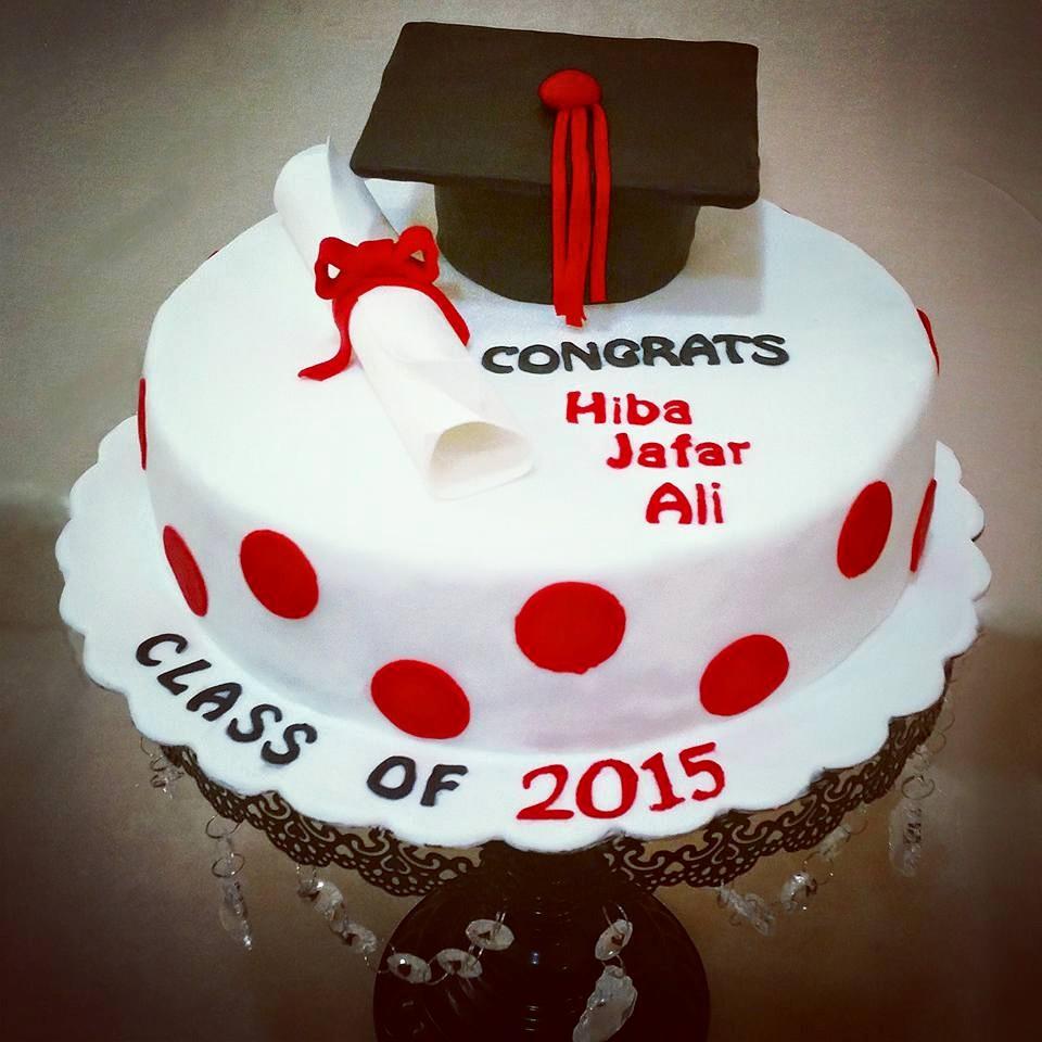 A graduation cake in Toronto