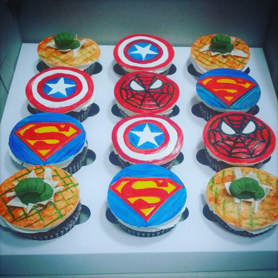 superman theme cup cakes in Toronto