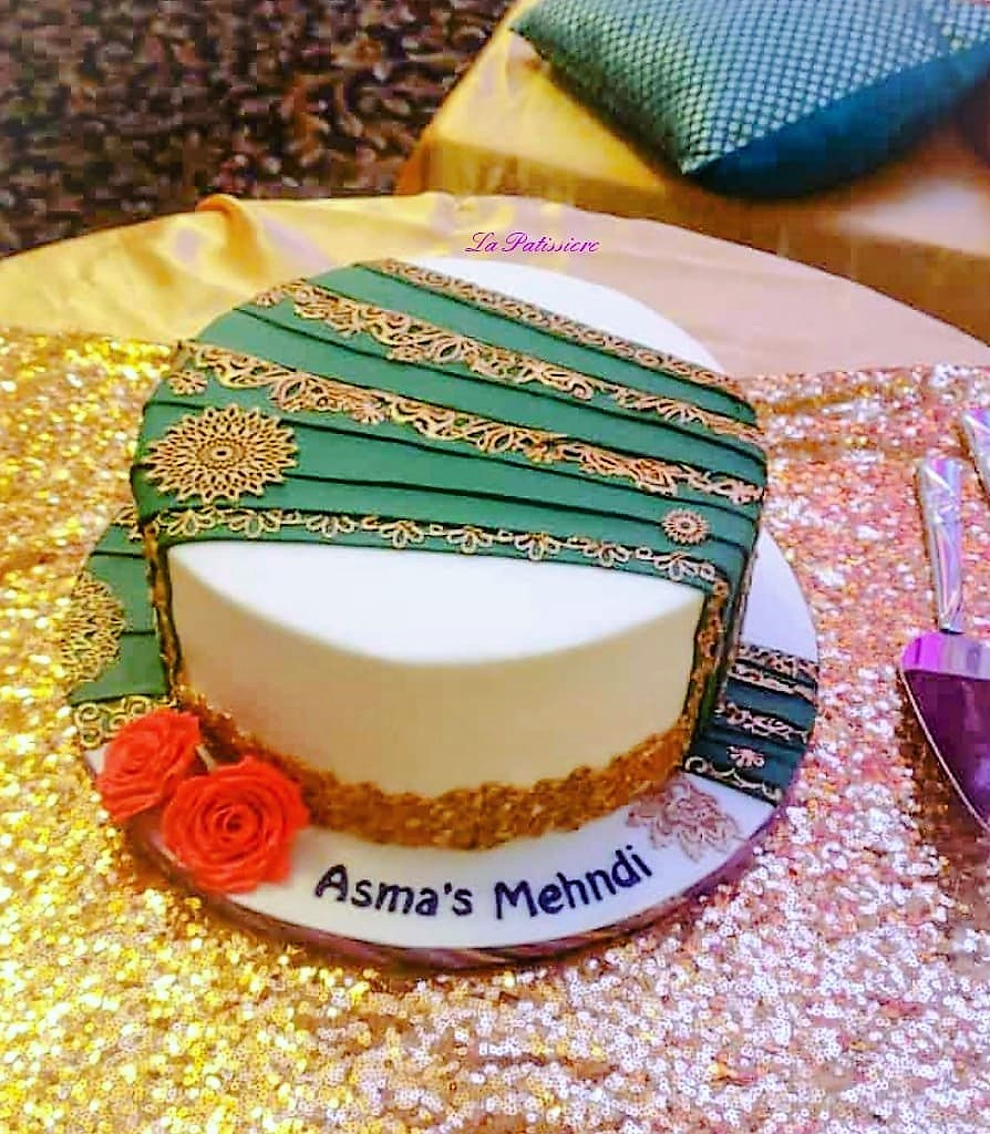 Iqras Dholi Creative custom wedding cake in toronto